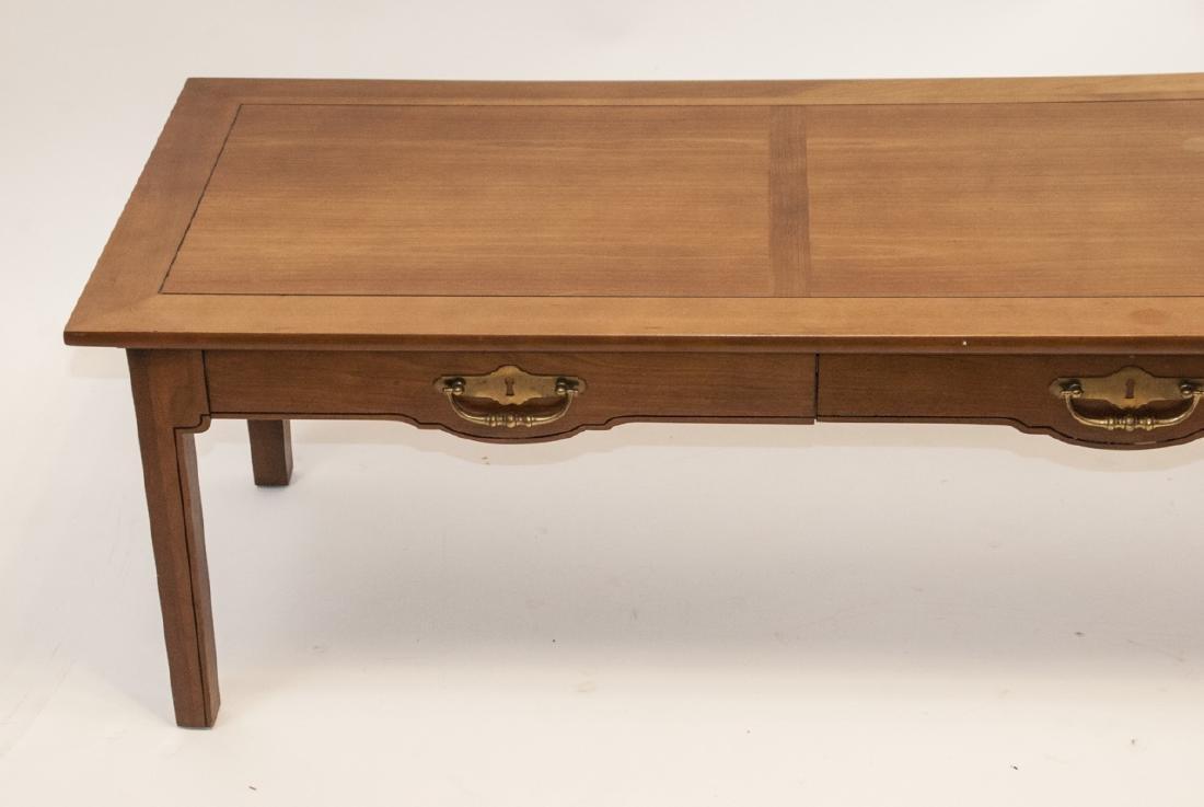 American Federal Style Oak Coffee Table - 2