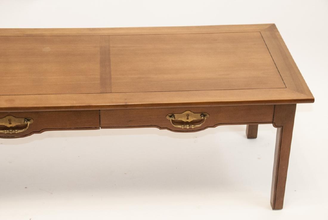 American Federal Style Oak Coffee Table - 4