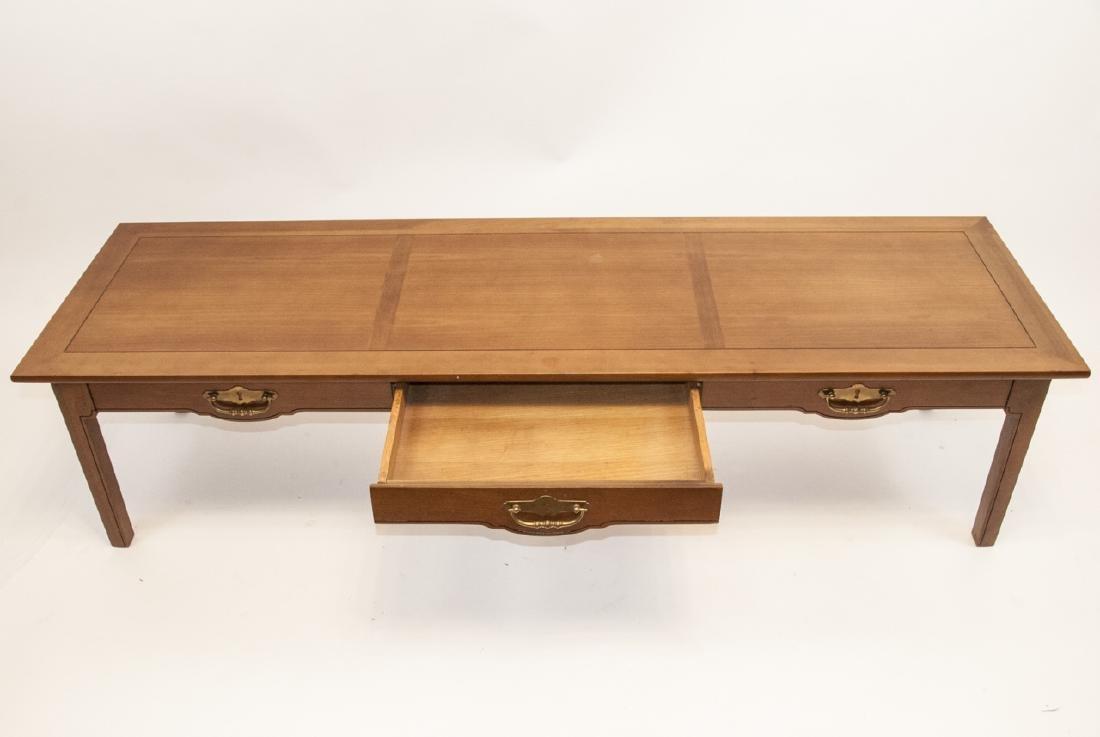 American Federal Style Oak Coffee Table - 5