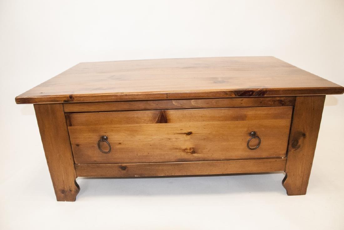 Pine Rustic Coffee Table - 4