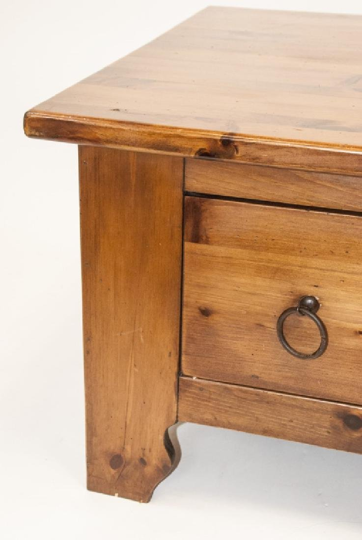 Pine Rustic Coffee Table - 5