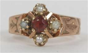 Antique 19th C Victorian 12kt Gold Ring