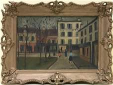 Attributed to Maurice Utrillo Framed Oil Painting
