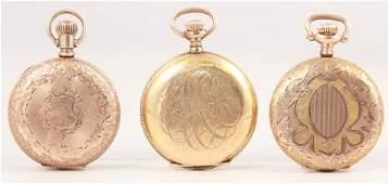 Antique Pocket Watch Group - Gold Filled Cases