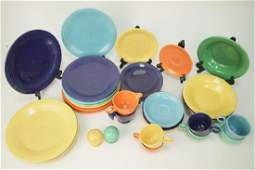 H. Laughlin Fiesta Ware Ceramic Glazed Dinnerware
