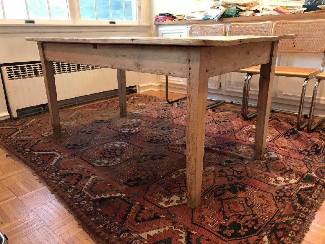 Antique 19th C American Pine Farm Dining Table - 2
