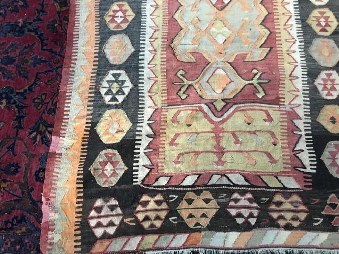 Vintage Kilim Style Woven Throw Rug / Carpet - 3