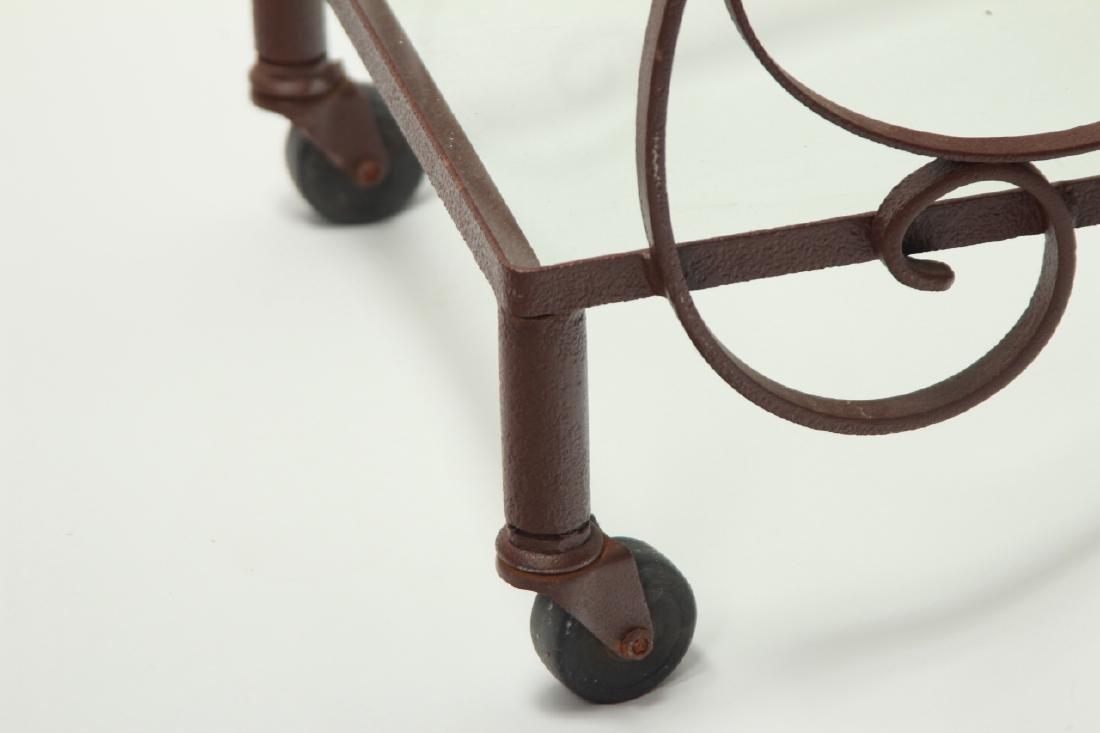 Mid Century Wrought Iron 3-Tier Bar or Garden Cart - 3
