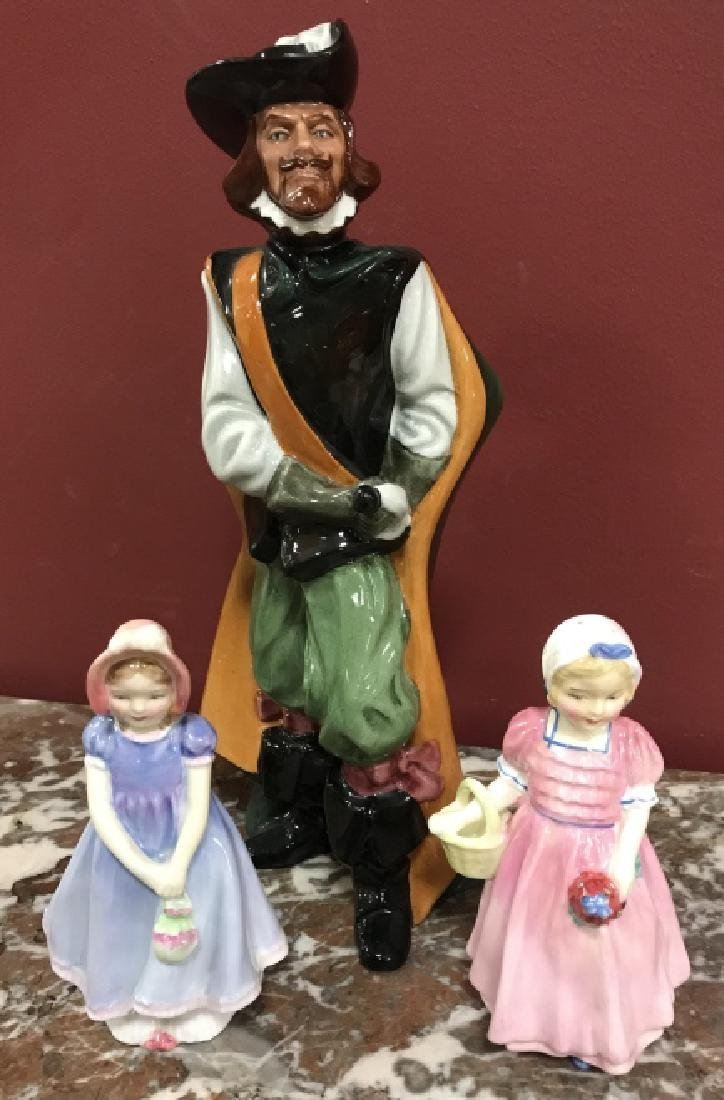 3 Vintage Royal Doulton Porcelain Figurines