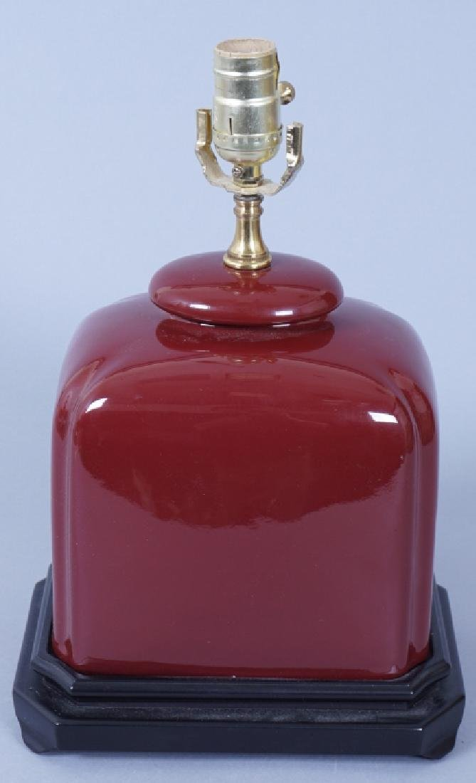 Chinese Oxblood Ceramic Table Lamp
