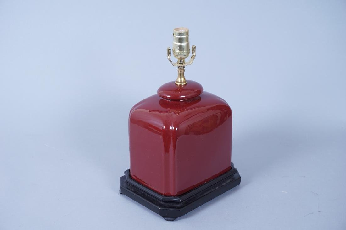 Chinese Oxblood Ceramic Table Lamp - 3