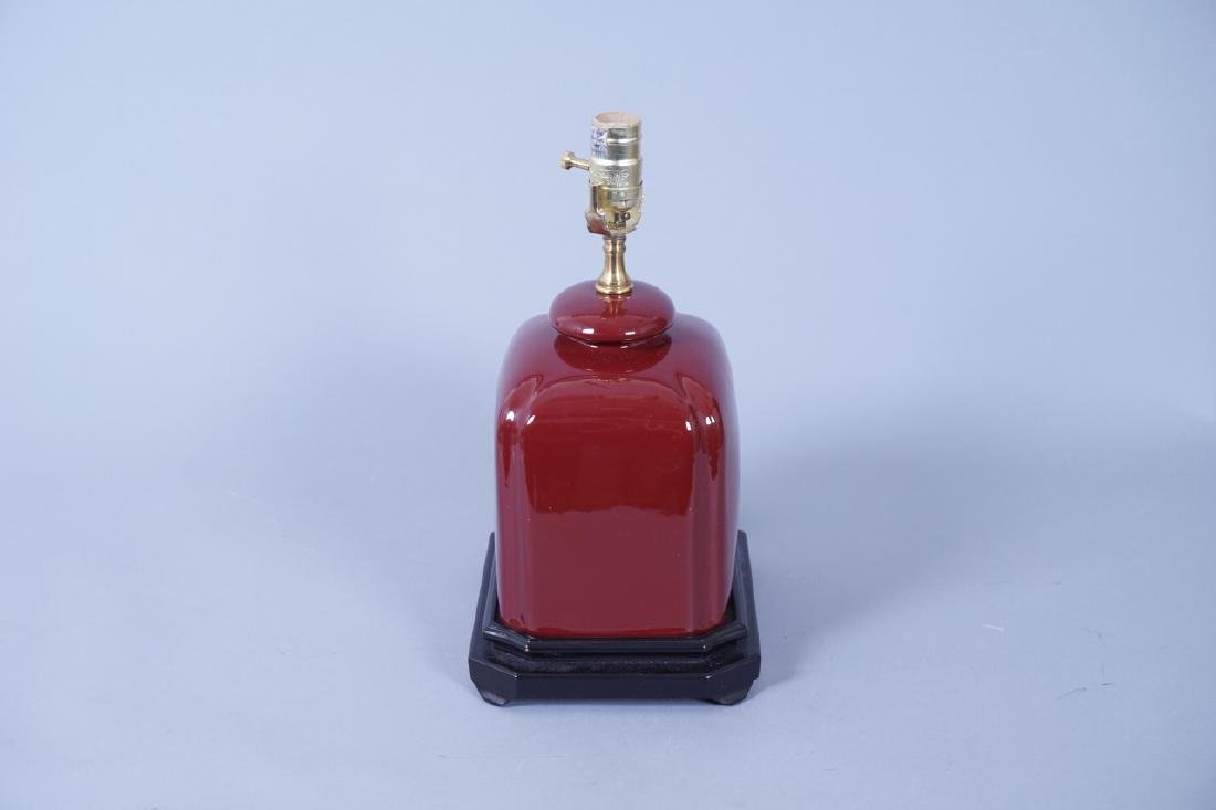 Chinese Oxblood Ceramic Table Lamp - 4