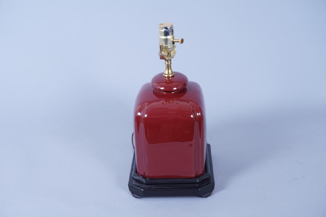 Chinese Oxblood Ceramic Table Lamp - 6