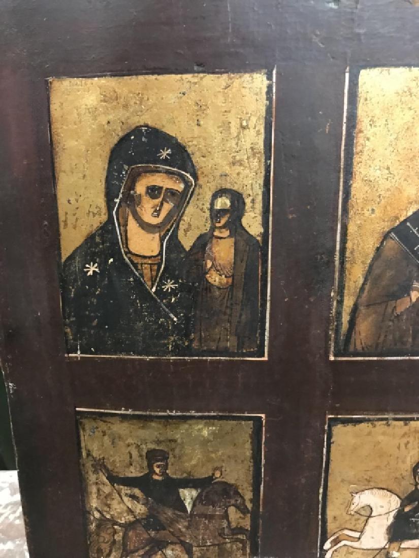 Antique 19th Century Russian Icon of Four Saints - 3