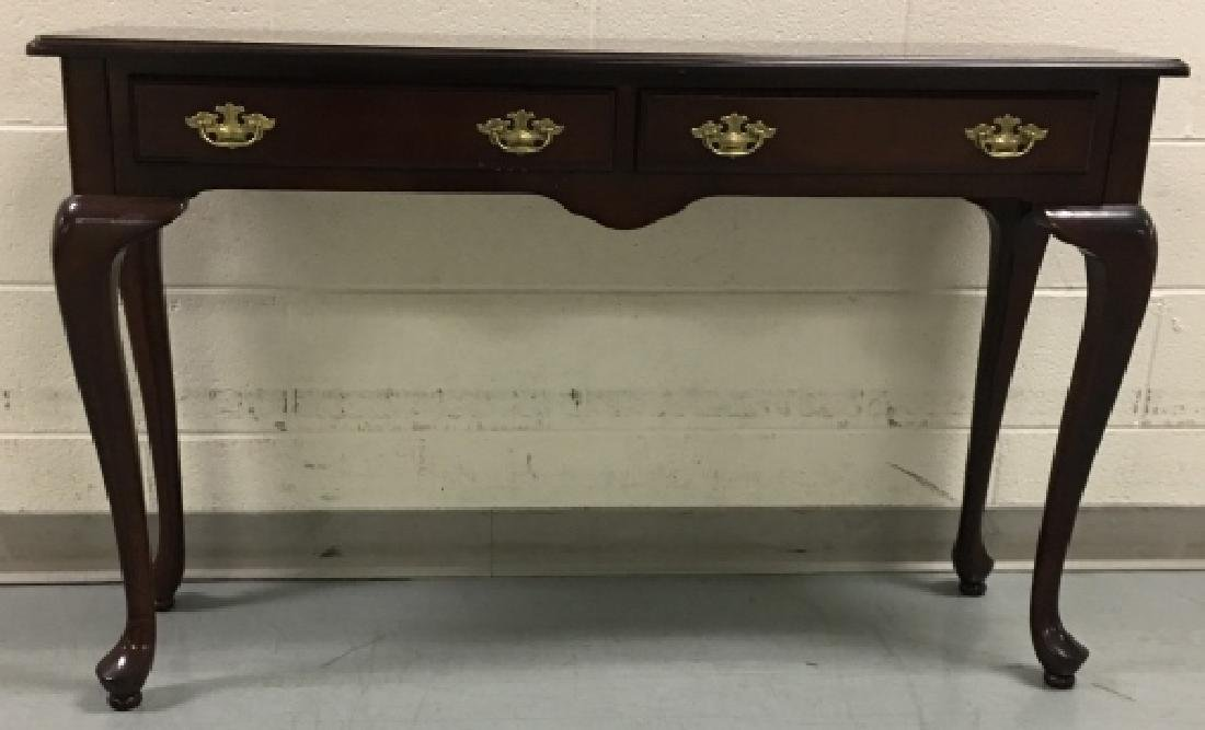 Queen Anne Style Mahogany Console Table