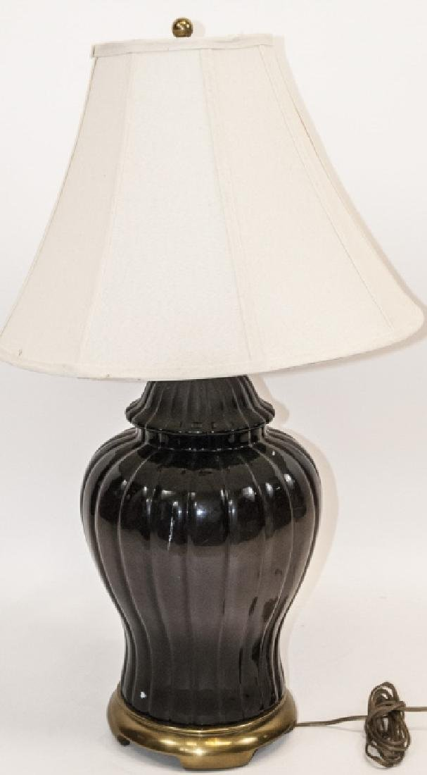 Mid C Modern Ceramic Table Lamp W Shade