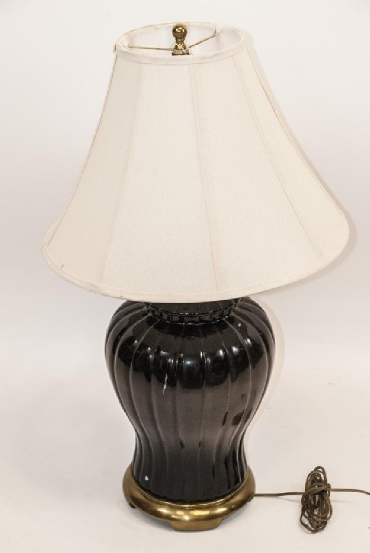 Mid C Modern Ceramic Table Lamp W Shade - 6