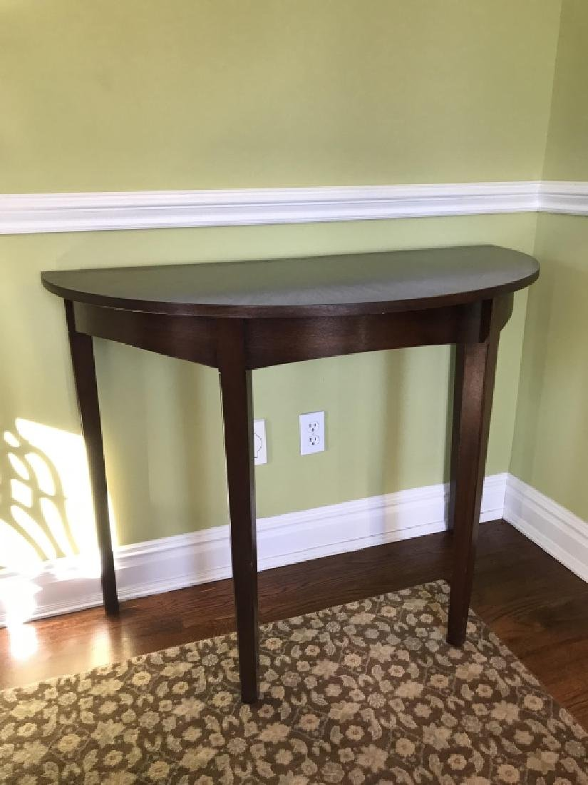 Custom Made Book Matched Veneer Console Table - 2
