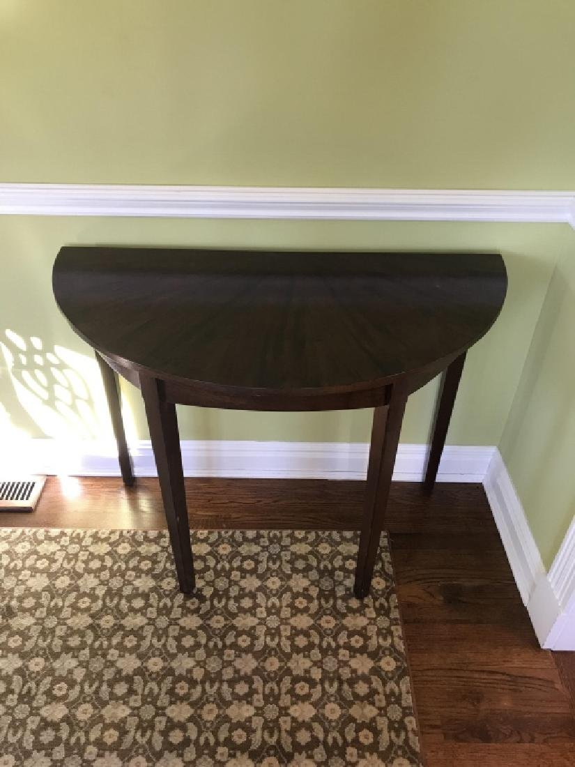 Custom Made Book Matched Veneer Console Table - 3