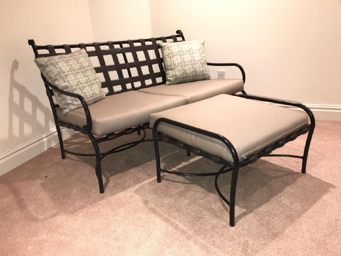 Brown Jordan Bench & Ottoman w Cushions - 5