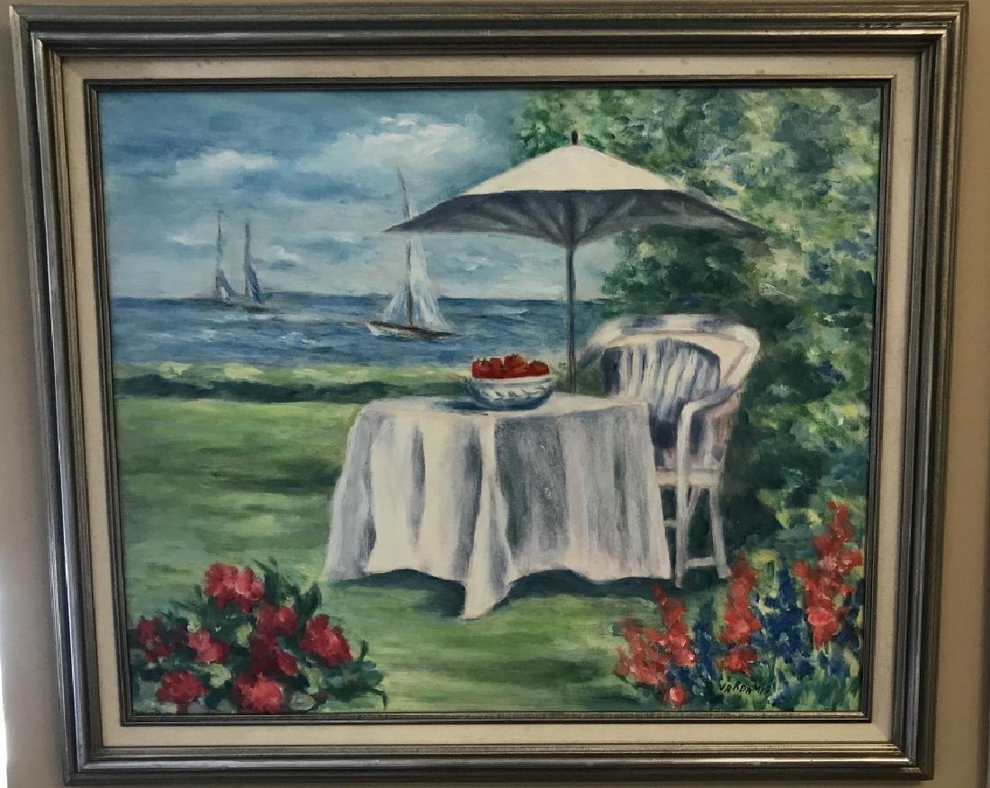 Contemporary Beach / Coastal Scene Oil Painting
