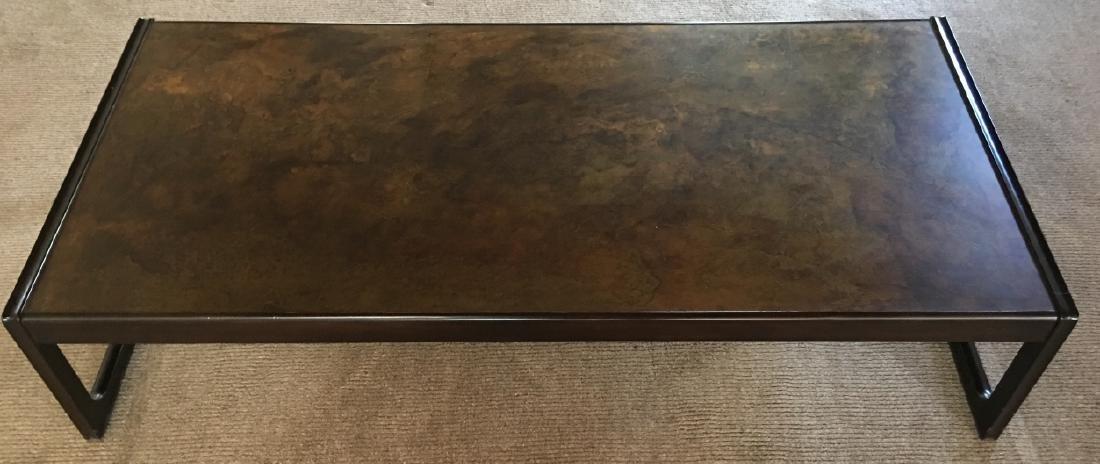 Modern Style Metal & Wood Coffee Table