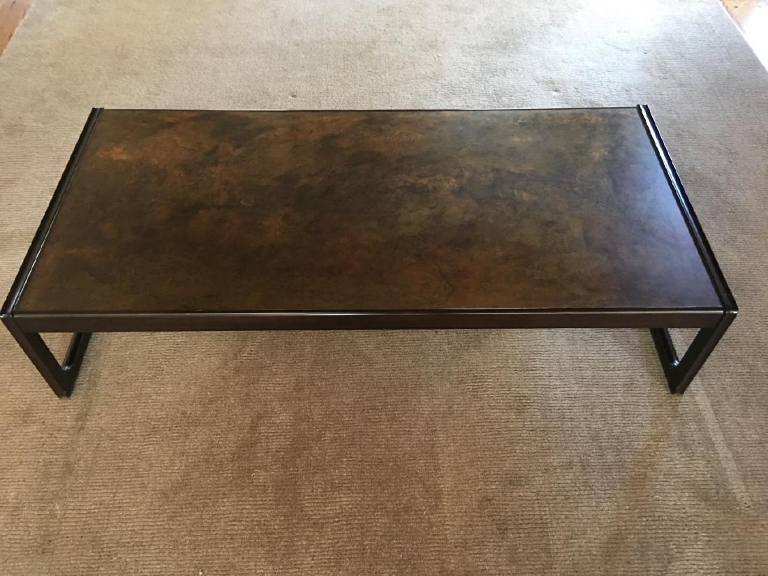 Modern Style Metal & Wood Coffee Table - 3