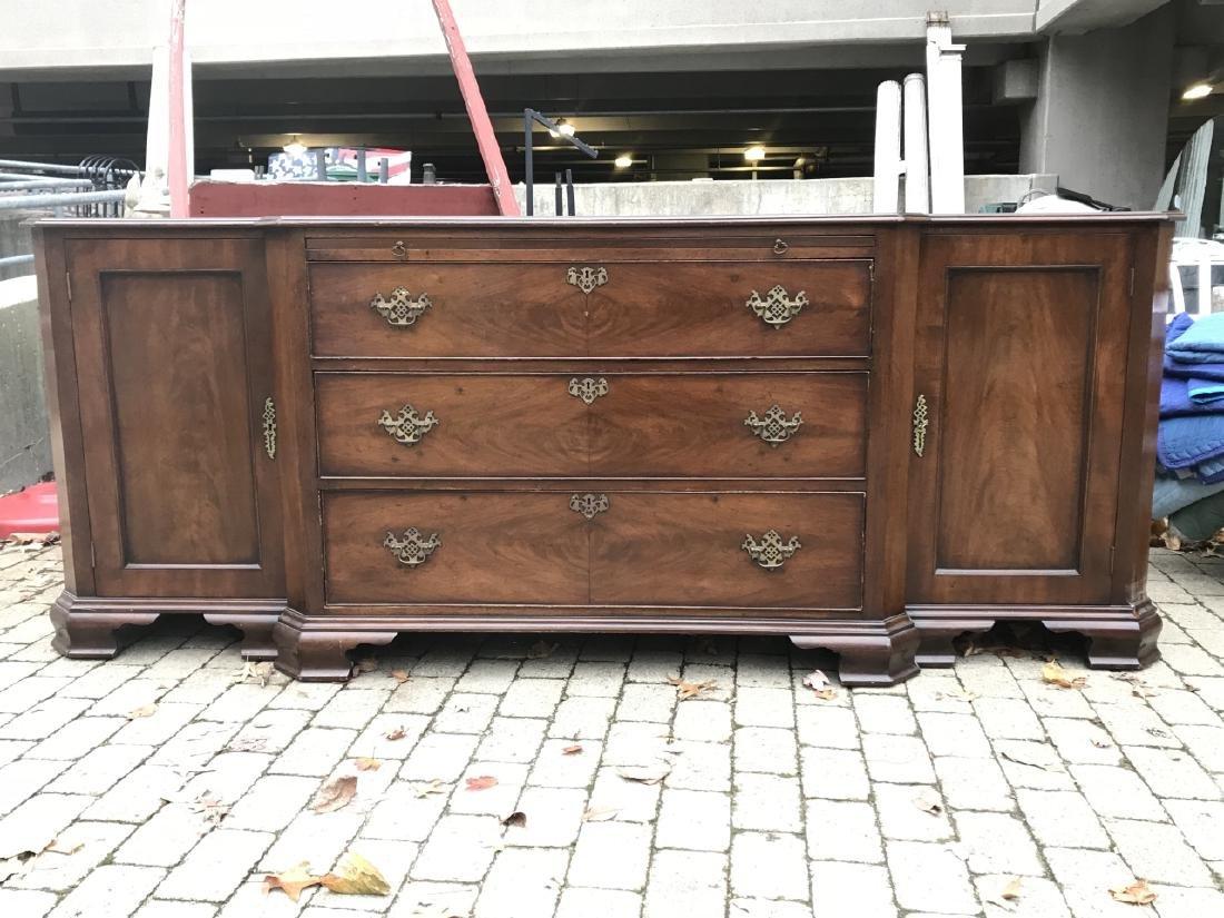 American Empire Style Crotch Mahogany Sideboard - 2