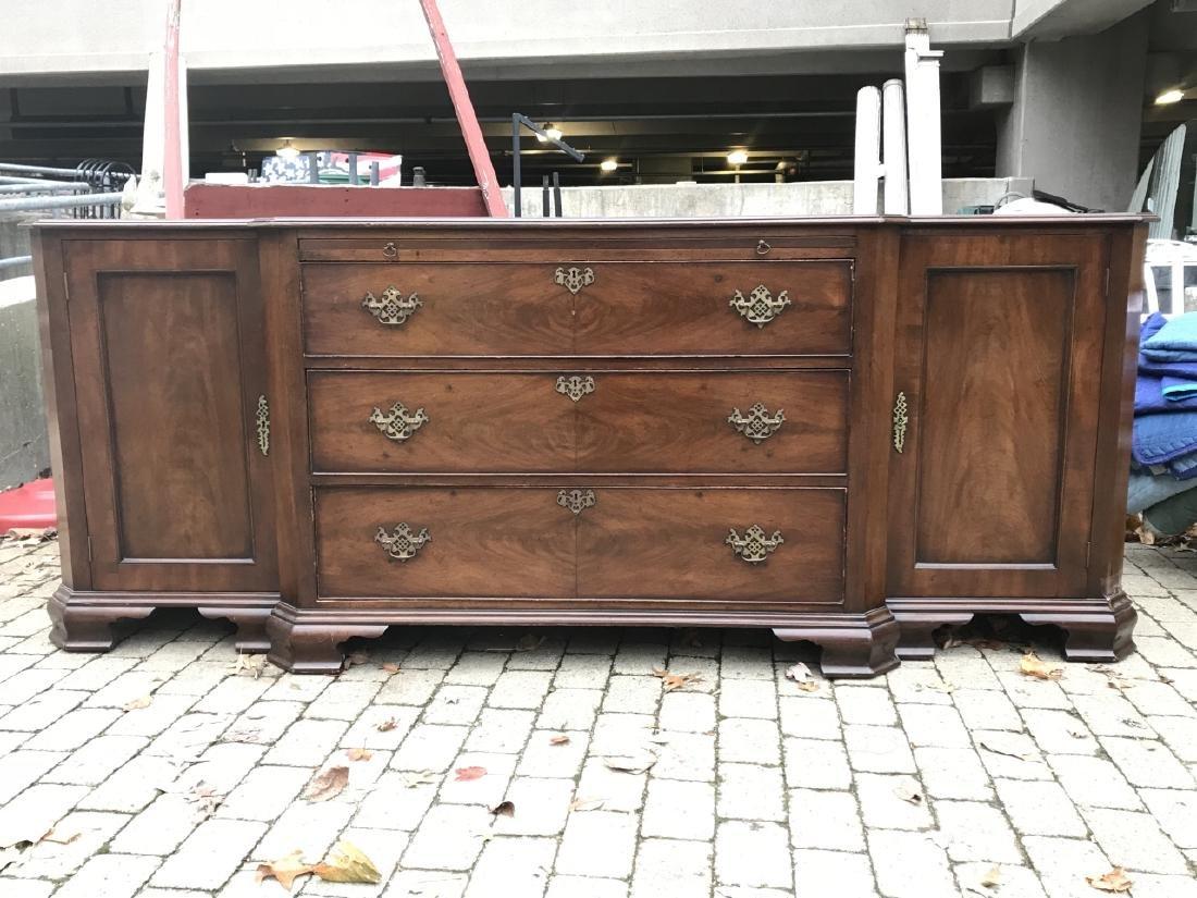 American Empire Style Crotch Mahogany Sideboard - 3