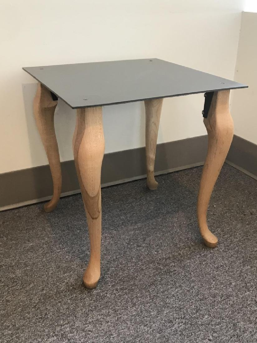 Contemporary End / Side Table W Cabriole Legs - 2