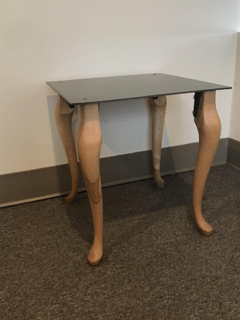 Contemporary End / Side Table W Cabriole Legs - 5