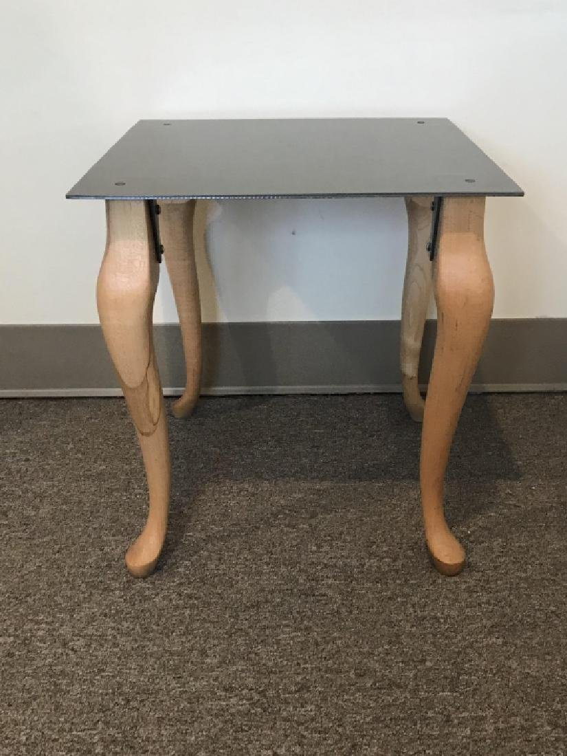 Contemporary End / Side Table W Cabriole Legs - 6