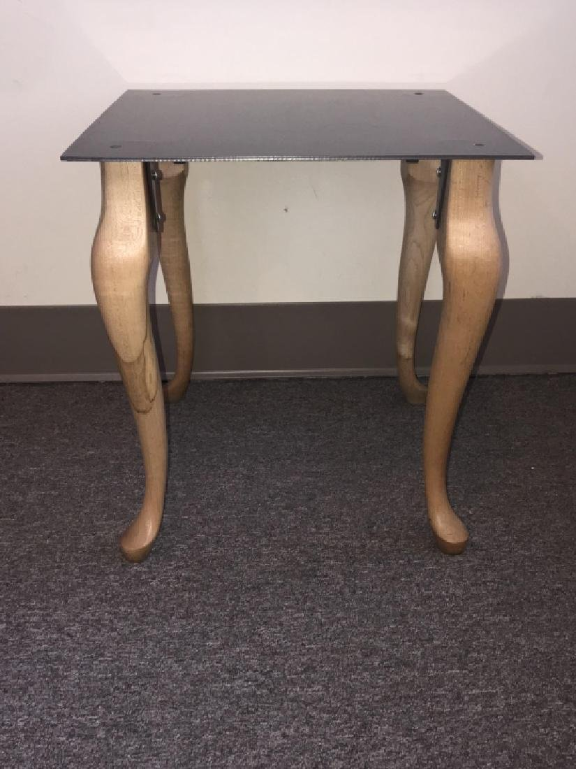 Contemporary End / Side Table W Cabriole Legs - 7