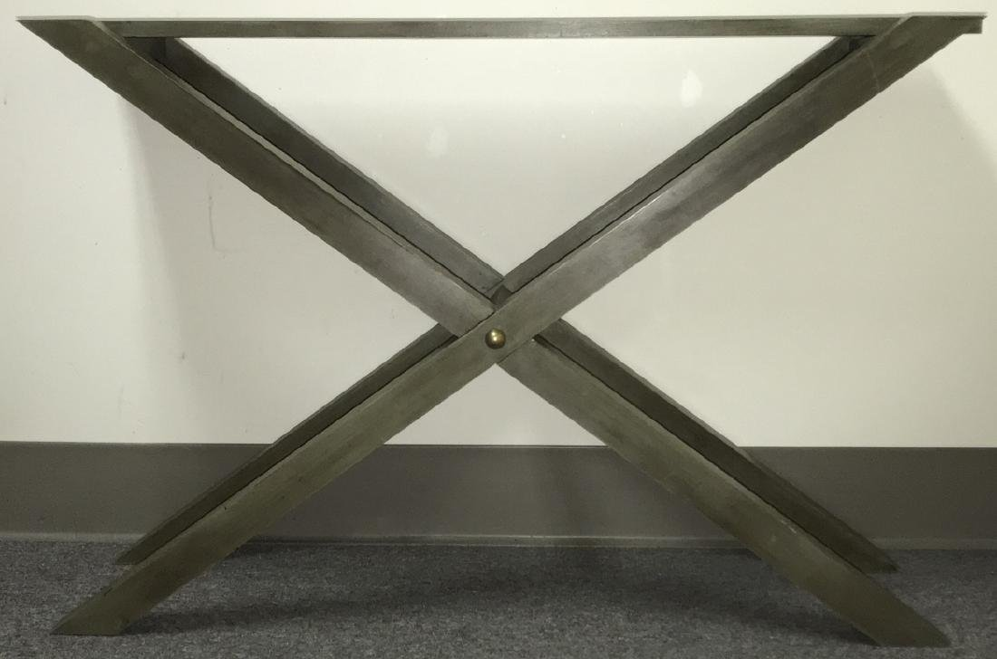 Contemporary Style Grey Wooden Console Table