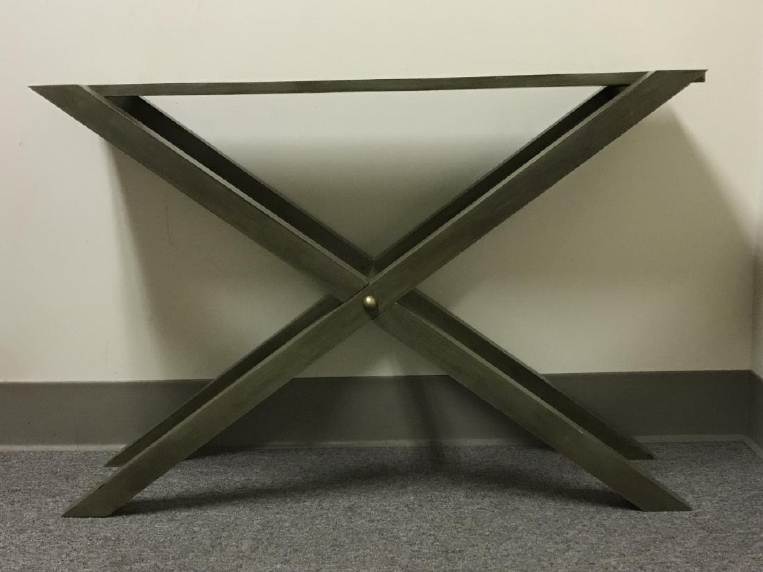 Contemporary Style Grey Wooden Console Table - 2