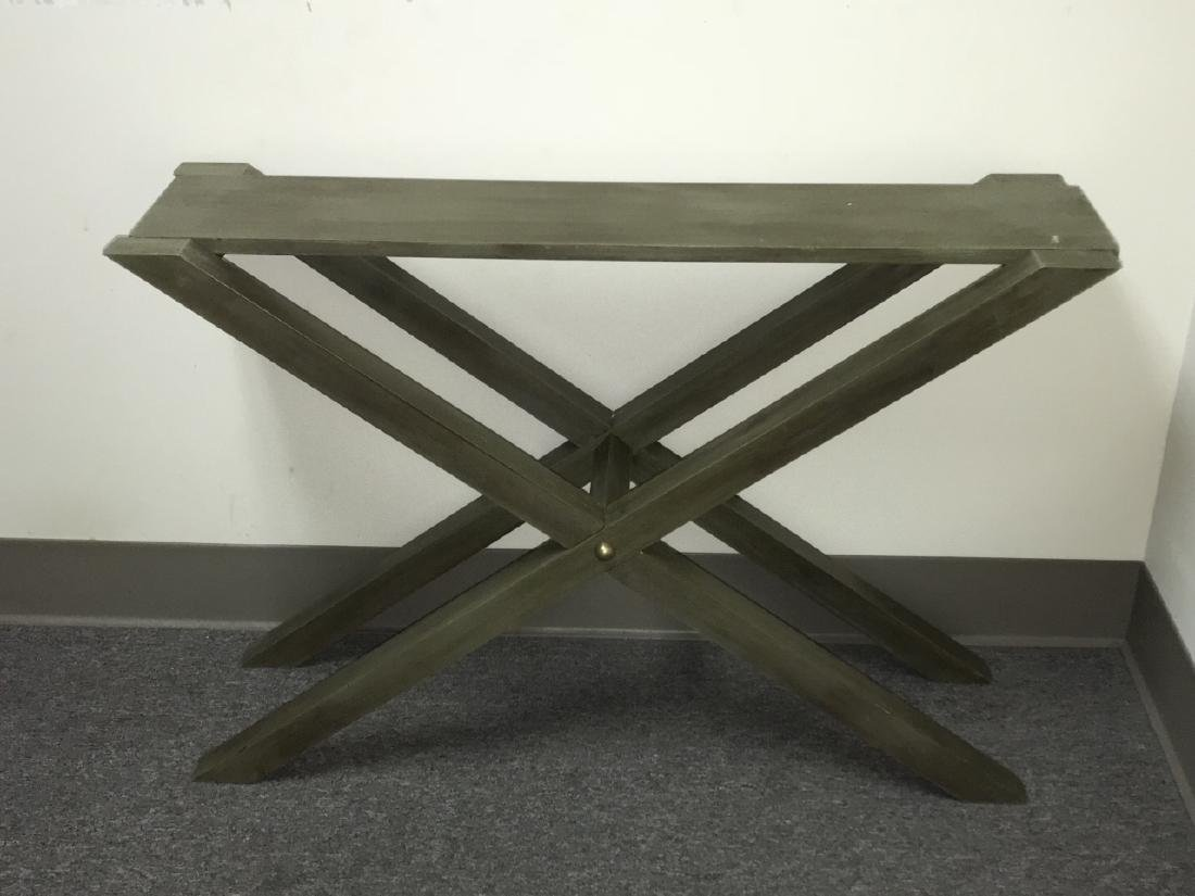 Contemporary Style Grey Wooden Console Table - 3