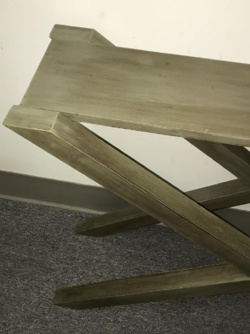 Contemporary Style Grey Wooden Console Table - 5