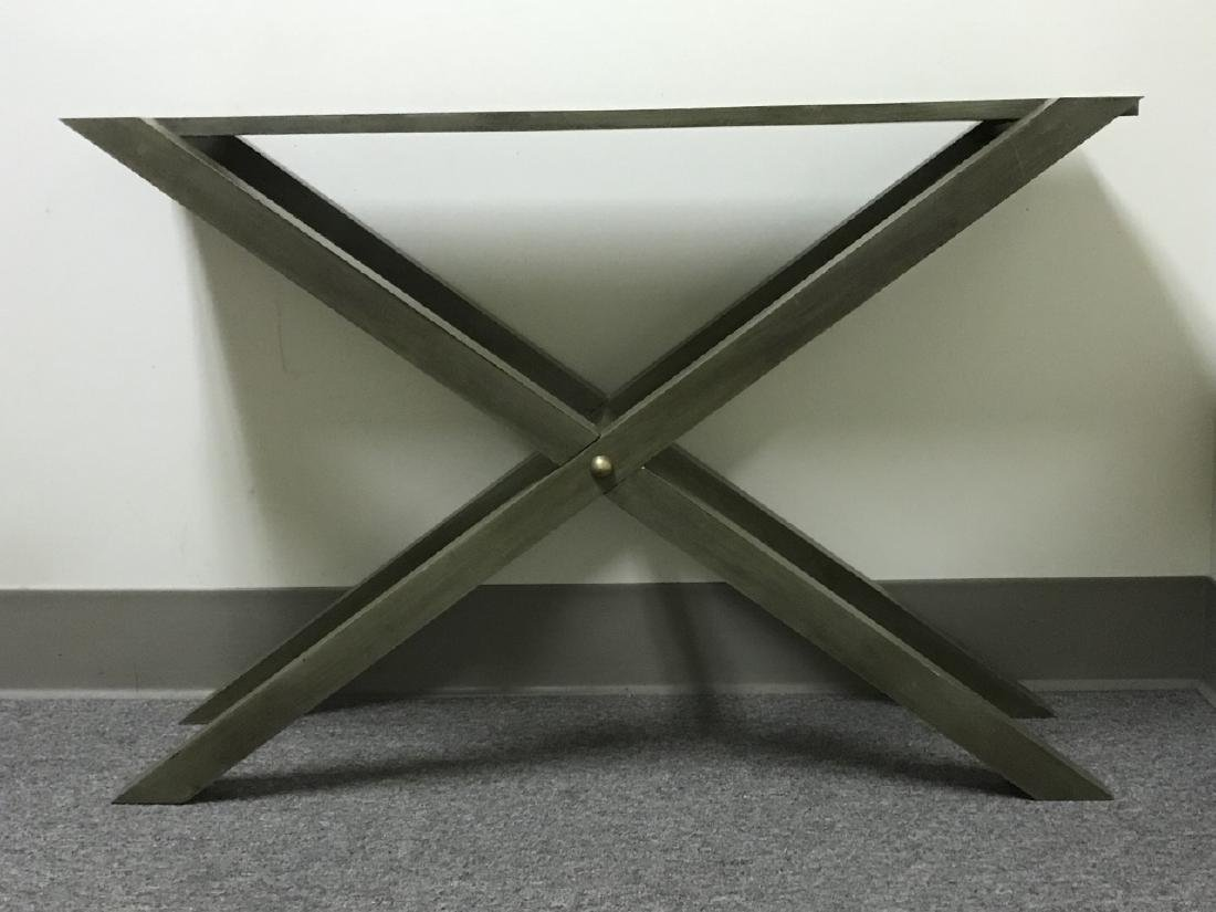 Contemporary Style Grey Wooden Console Table - 7