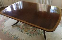 Sheraton Style Double Pedestal Base Dining Table