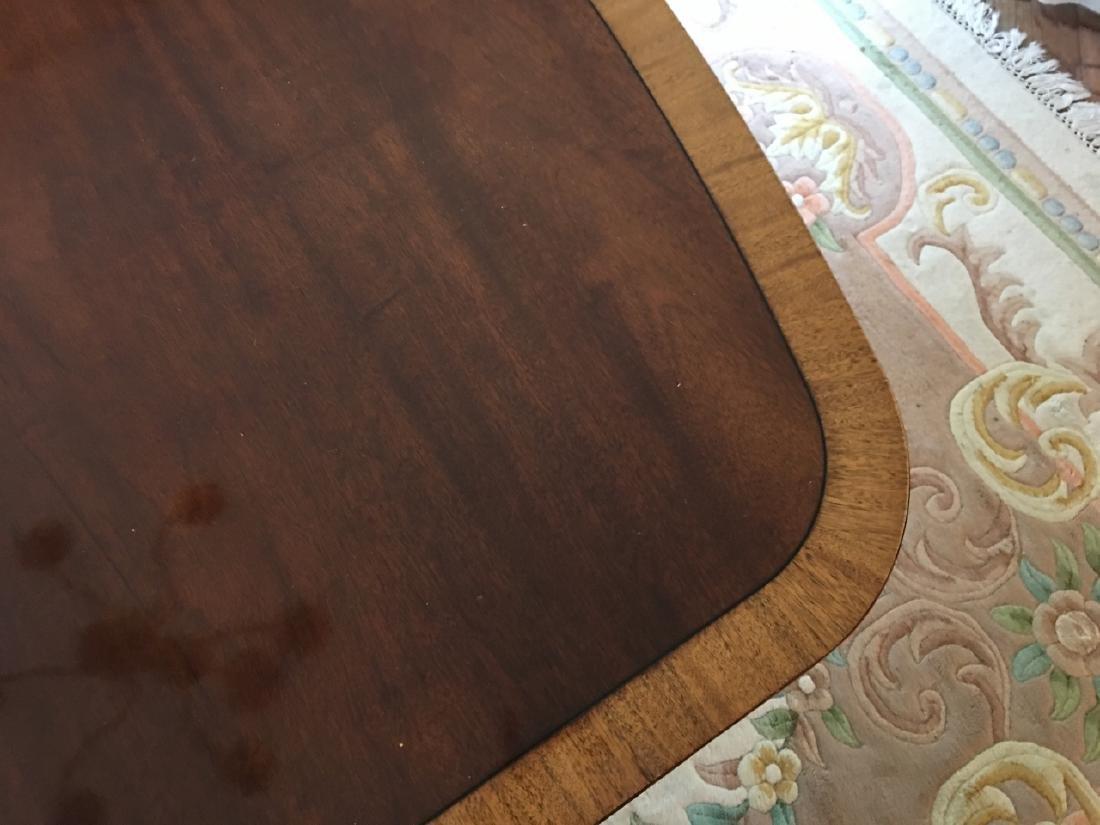 Sheraton Style Double Pedestal Base Dining Table - 5