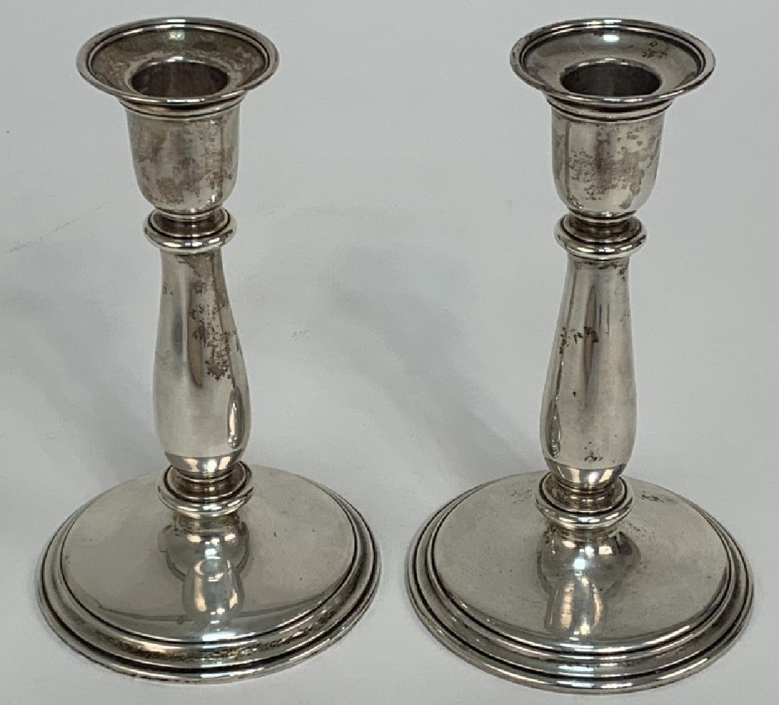 Tiffany & Co Weighted Sterling Silver Candlesticks