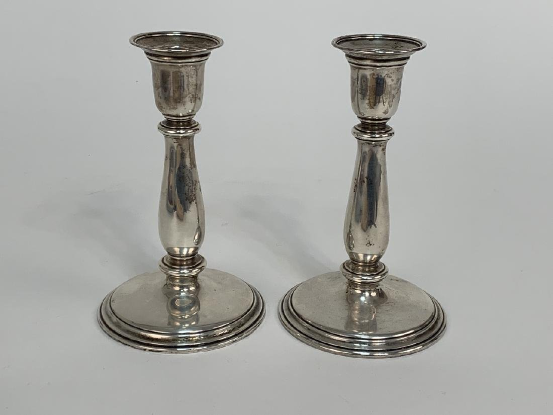 Tiffany & Co Weighted Sterling Silver Candlesticks - 3
