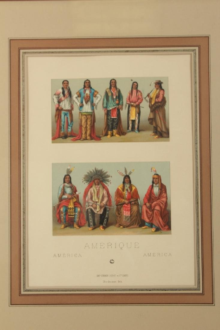 Hand Colored Lithograph American Indian Chiefs - 2