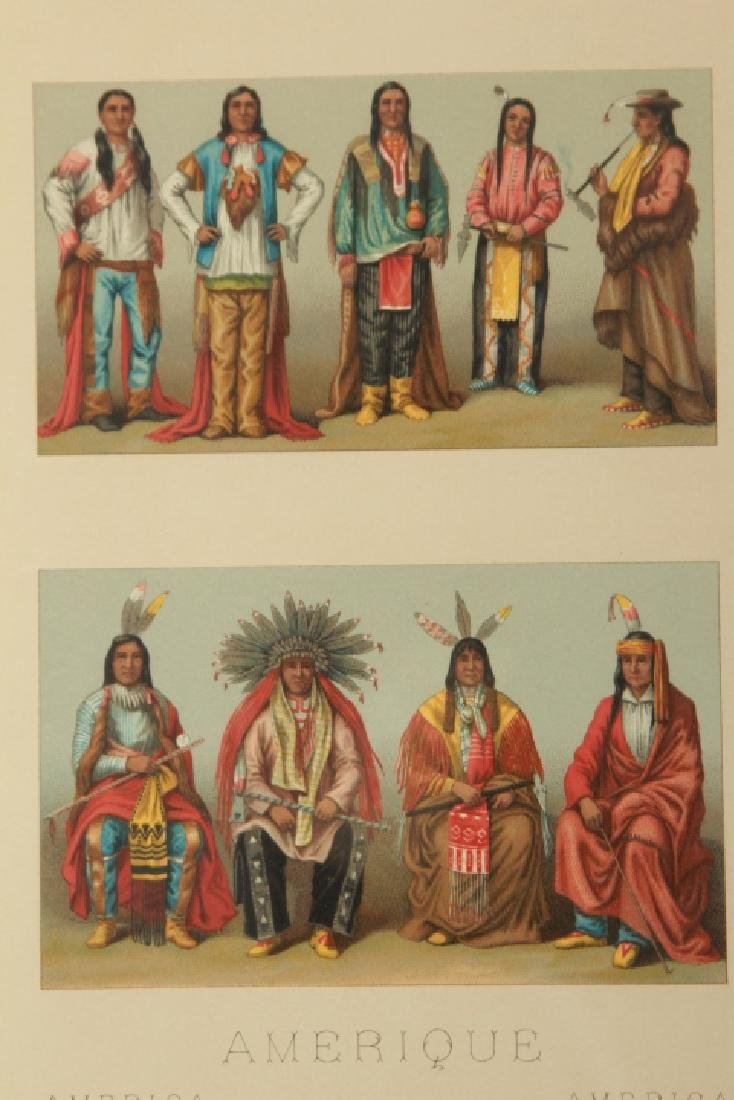 Hand Colored Lithograph American Indian Chiefs - 3