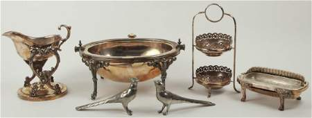 Collection of Silver Plate Serve Ware Items