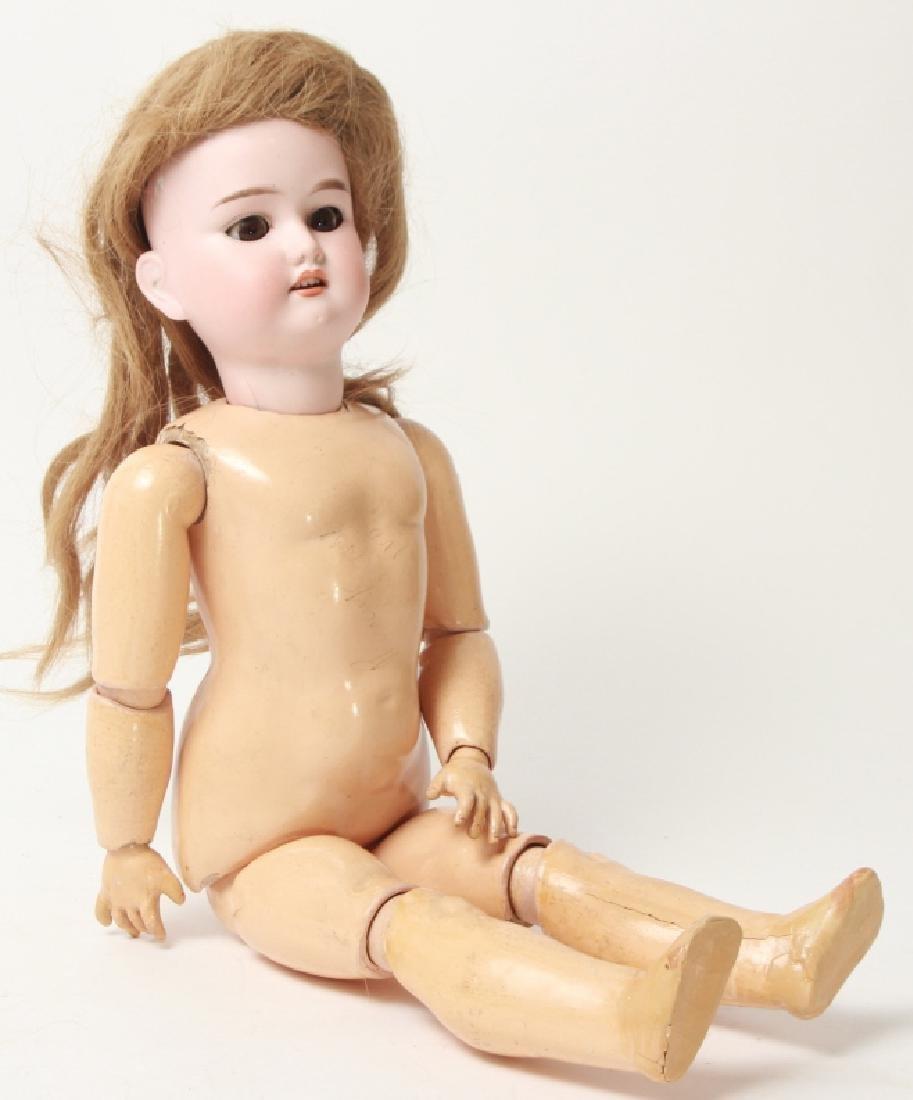 Antique German Bisque Doll w Human Hair Wig