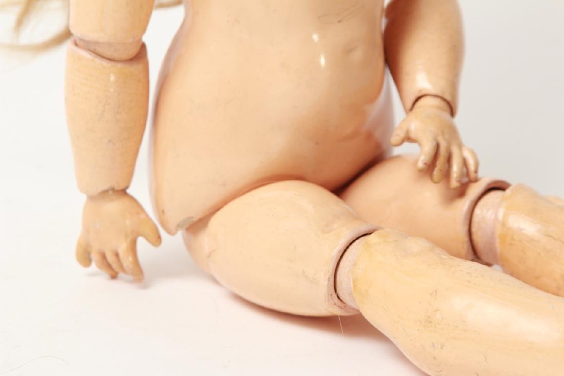 Antique German Bisque Doll w Human Hair Wig - 8