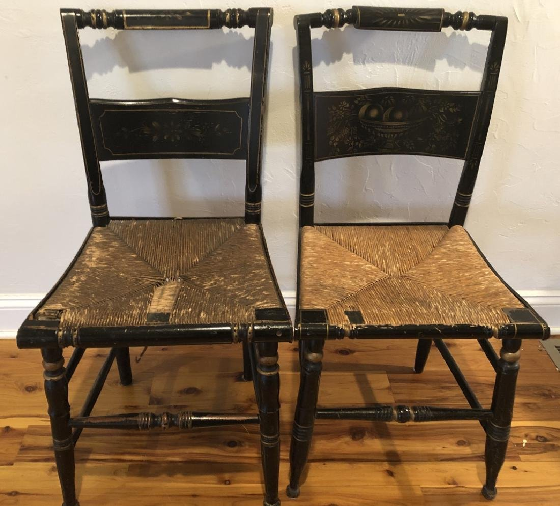 Pair Antique Hitchcock Side Chairs