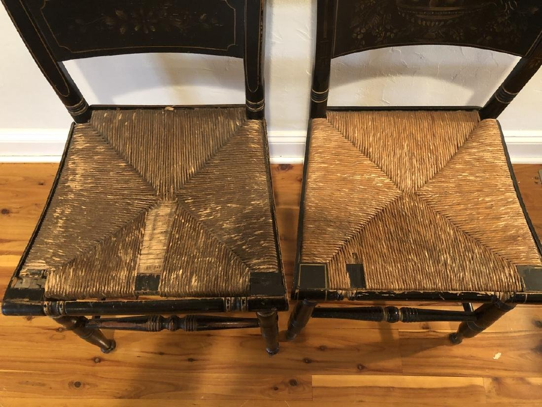 Pair Antique Hitchcock Side Chairs - 4