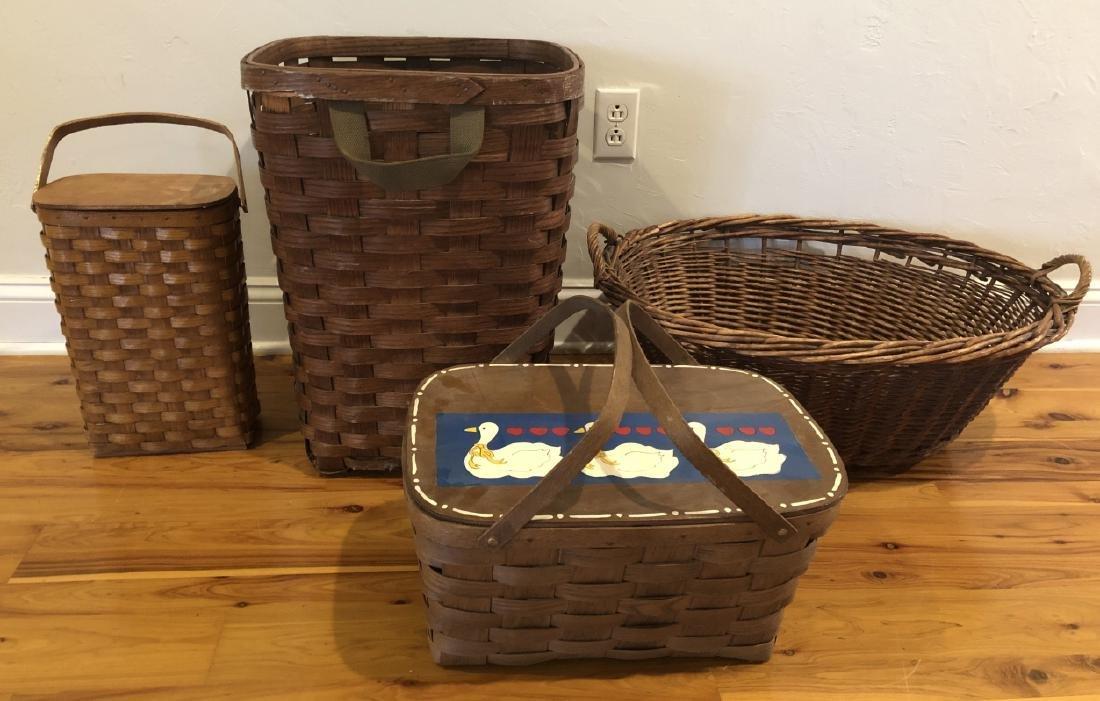 4 Vintage and Antique Baskets